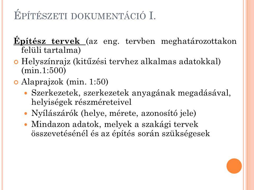 Építészeti dokumentáció I.
