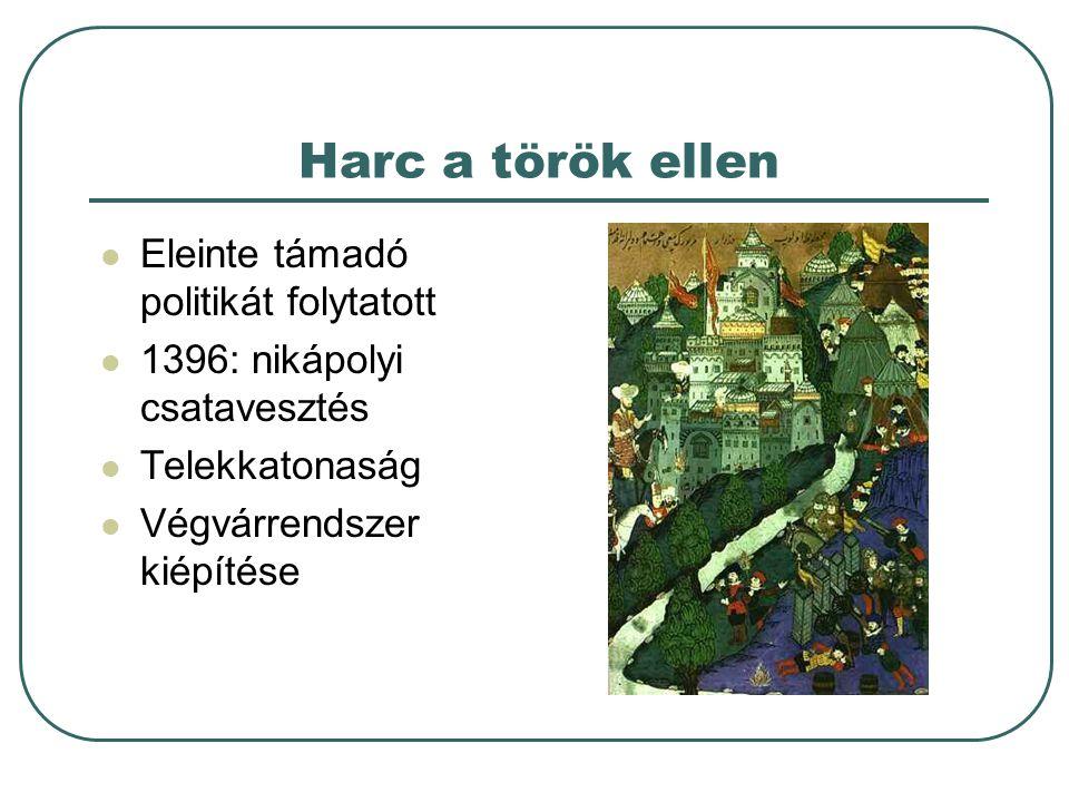 Harc a török ellen Eleinte támadó politikát folytatott
