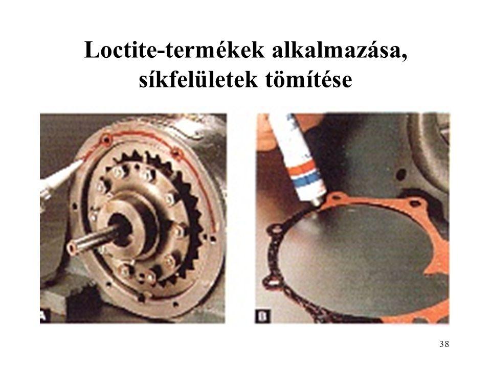 Loctite-termékek alkalmazása, síkfelületek tömítése