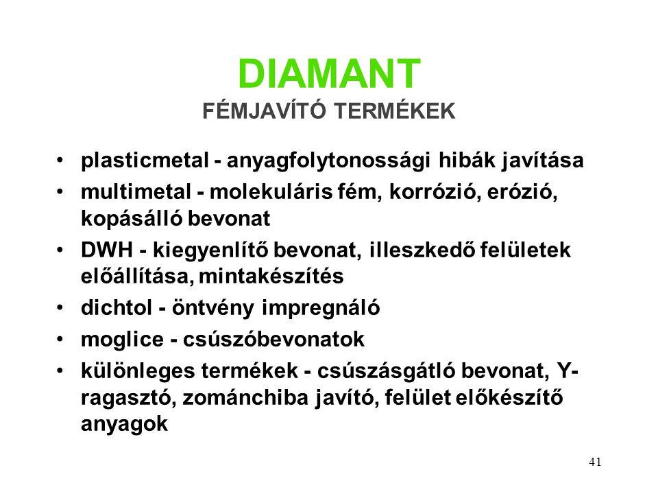DIAMANT FÉMJAVÍTÓ TERMÉKEK