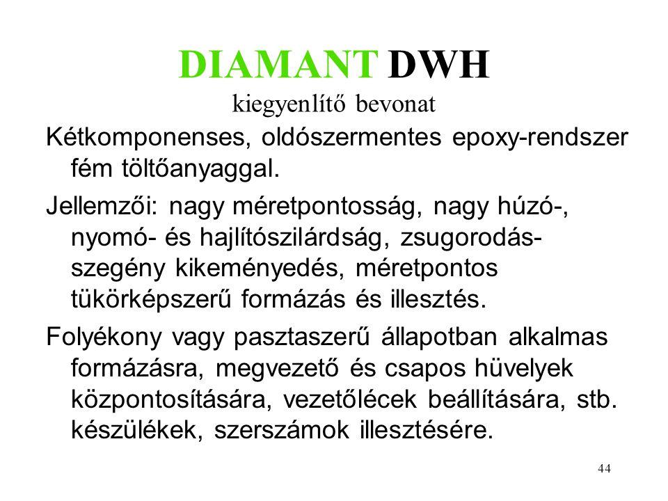 DIAMANT DWH kiegyenlítő bevonat