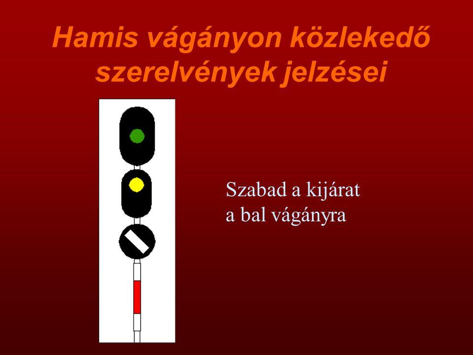 Hamis vágányon közlekedő szerelvények jelzései