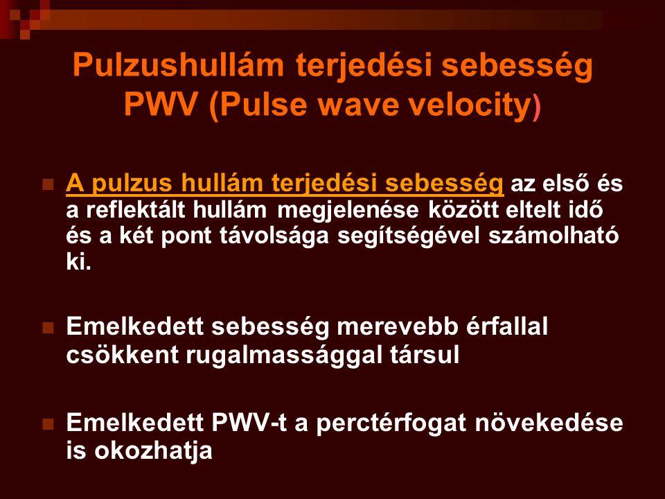 Pulzushullám terjedési sebesség PWV (Pulse wave velocity)