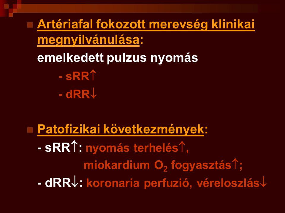 Artériafal fokozott merevség klinikai megnyilvánulása: