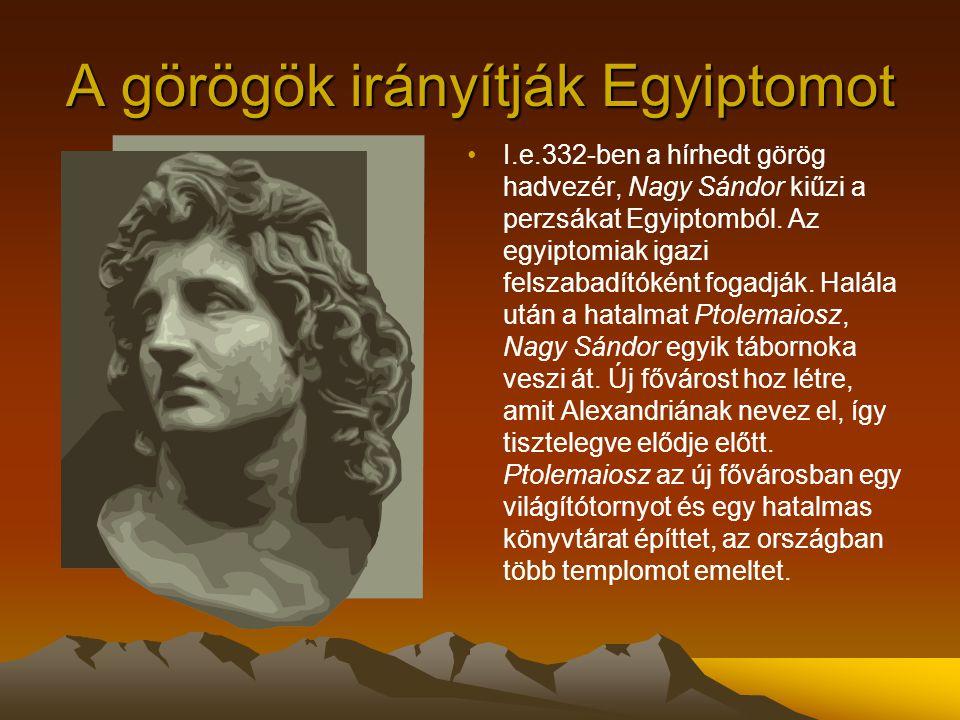 A görögök irányítják Egyiptomot