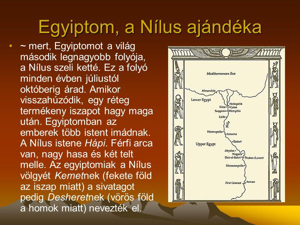 Egyiptom, a Nílus ajándéka