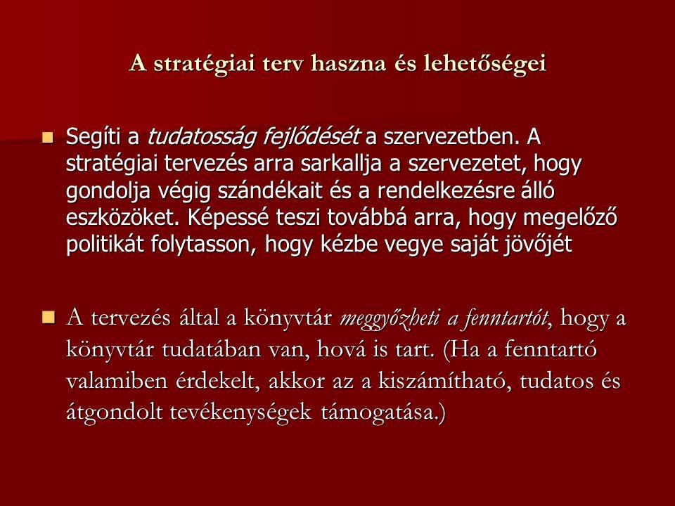 A stratégiai terv haszna és lehetőségei