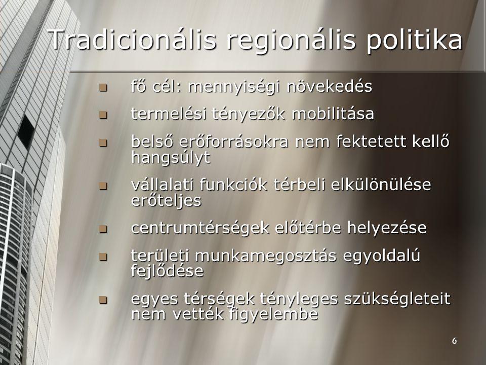 Tradicionális regionális politika