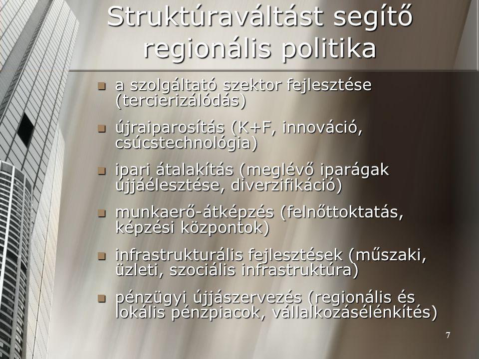 Struktúraváltást segítő regionális politika