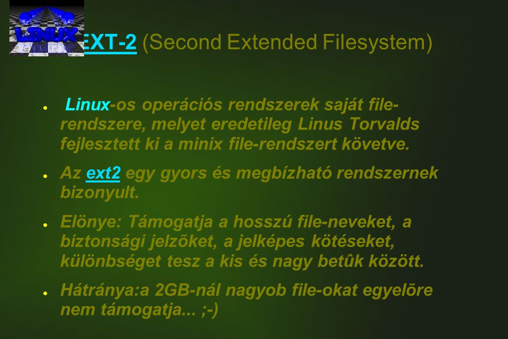 EXT-2 (Second Extended Filesystem)