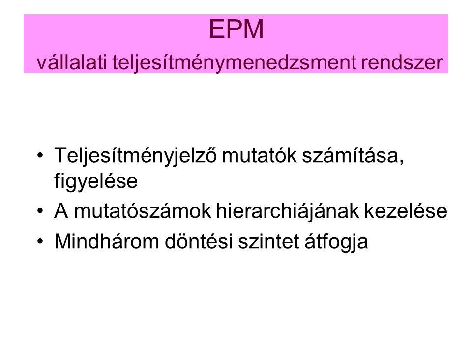 EPM vállalati teljesítménymenedzsment rendszer