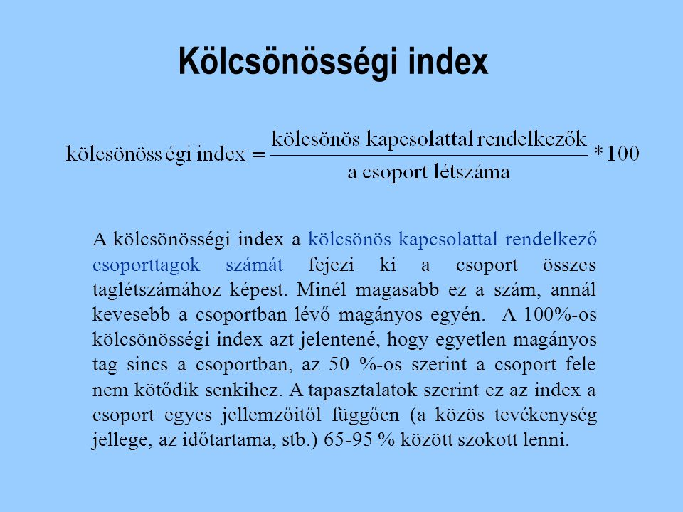 Kölcsönösségi index