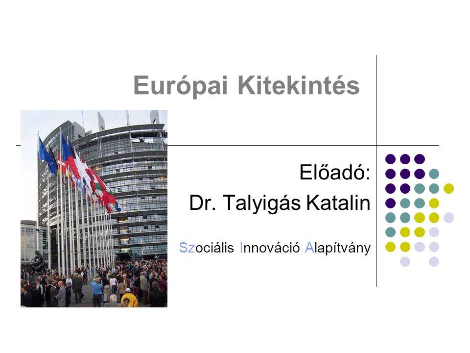 Előadó: Dr. Talyigás Katalin Szociális Innováció Alapítvány