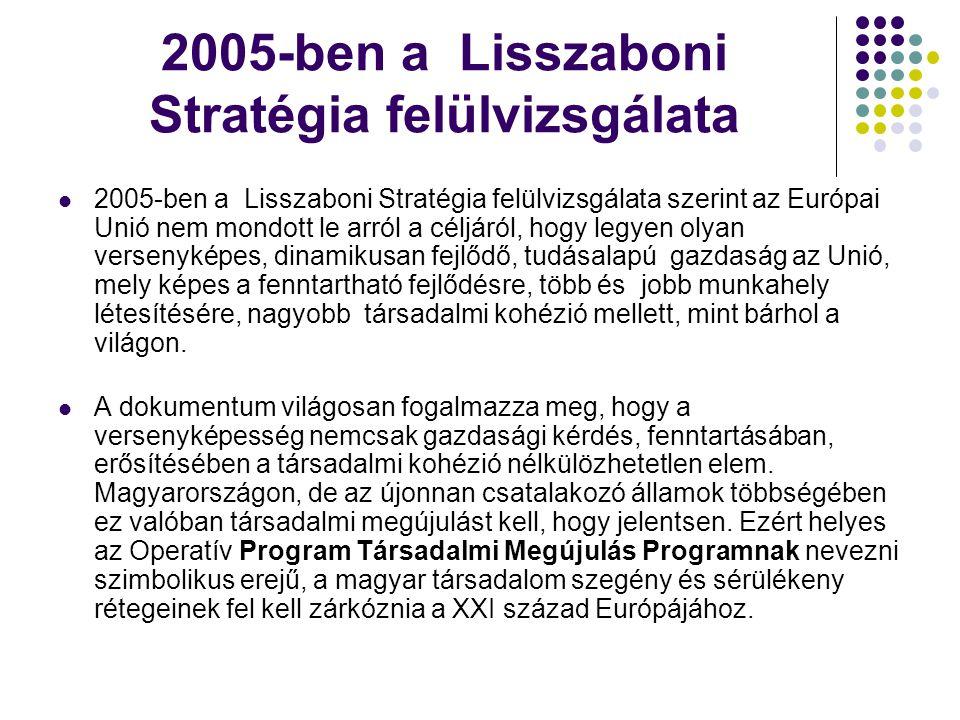 2005-ben a Lisszaboni Stratégia felülvizsgálata