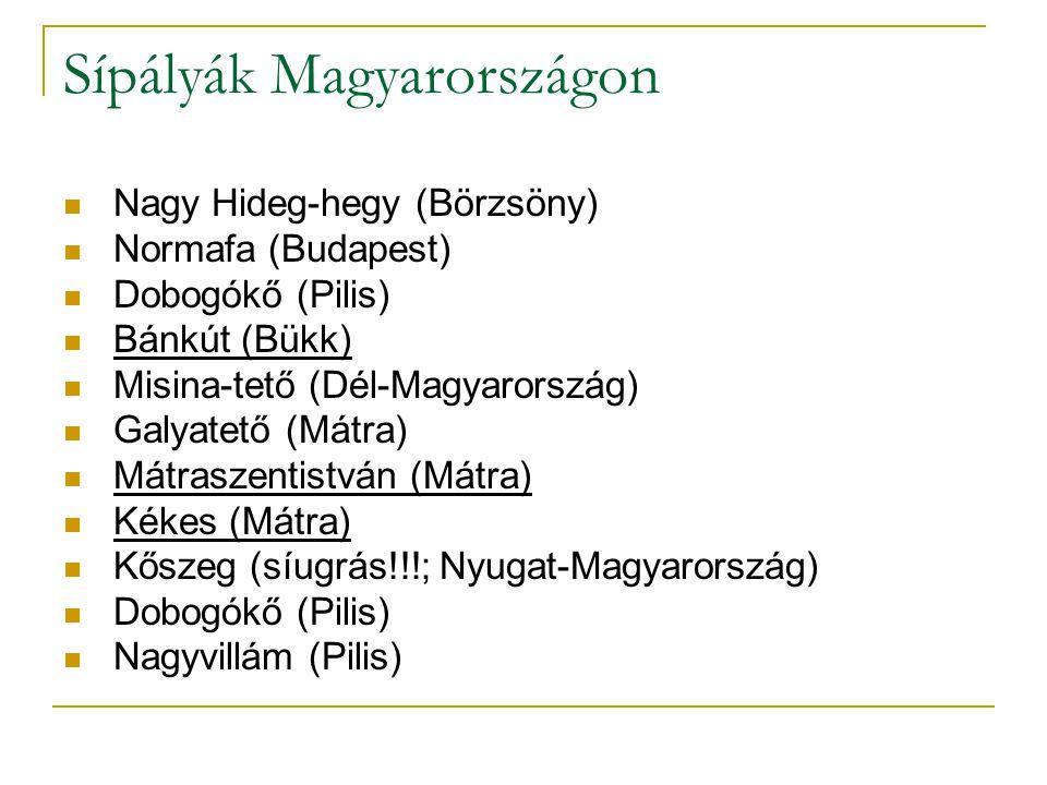 Sípályák Magyarországon