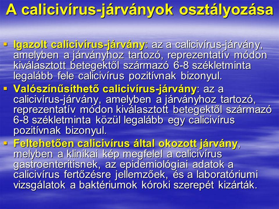 A calicivírus-járványok osztályozása