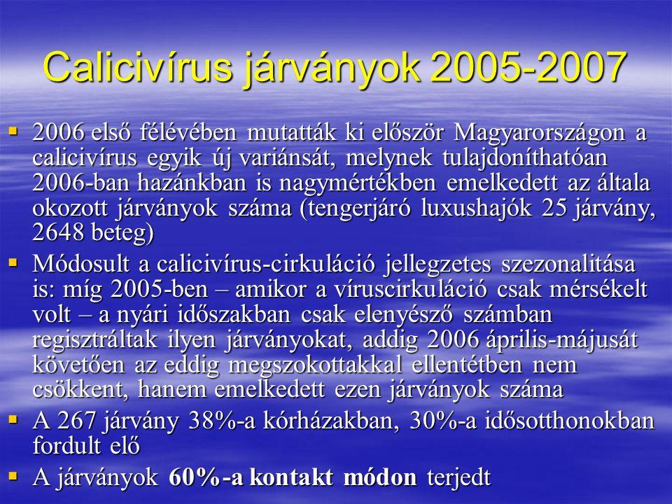 Calicivírus járványok 2005-2007