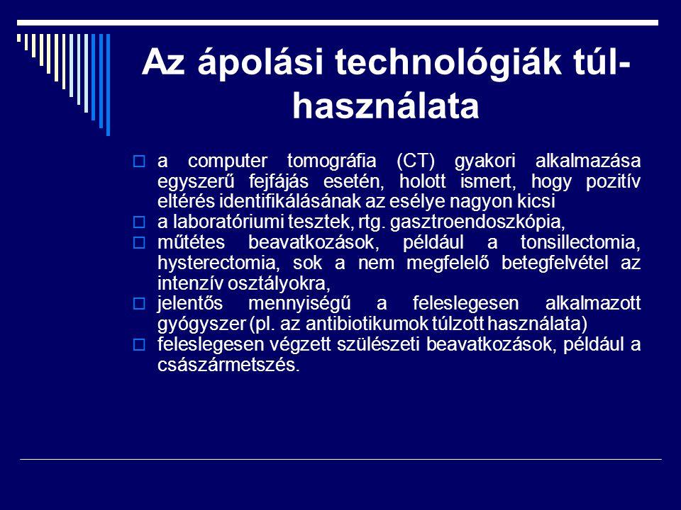 Az ápolási technológiák túl-használata