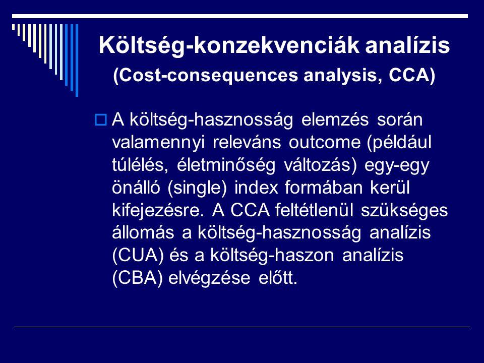 Költség-konzekvenciák analízis (Cost-consequences analysis, CCA)