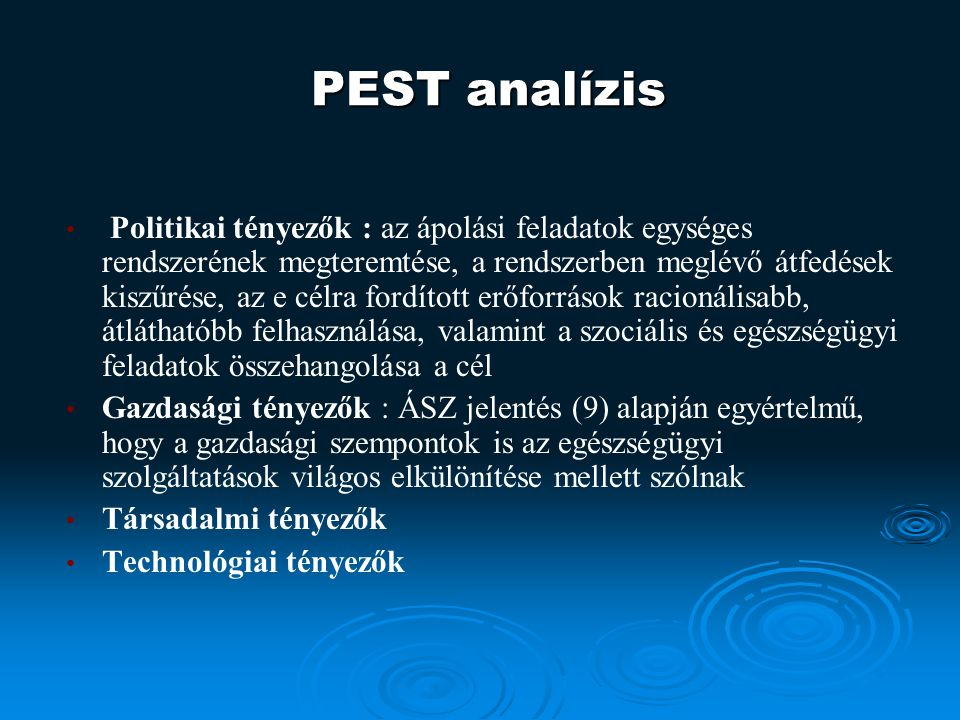 PEST analízis
