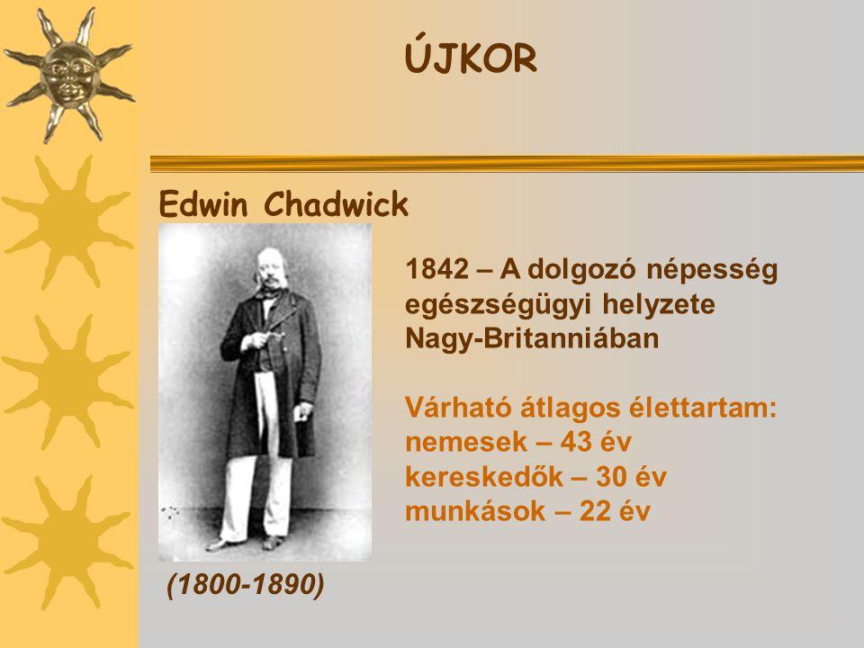 ÚJKOR Edwin Chadwick 1842 – A dolgozó népesség egészségügyi helyzete