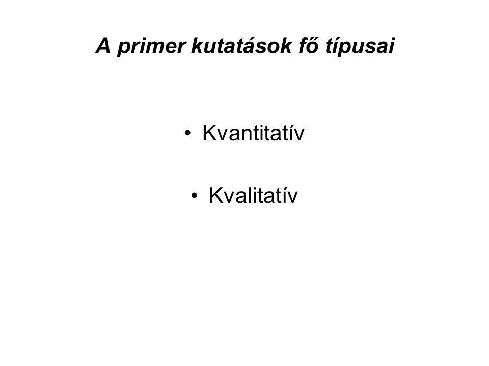 A primer kutatások fő típusai