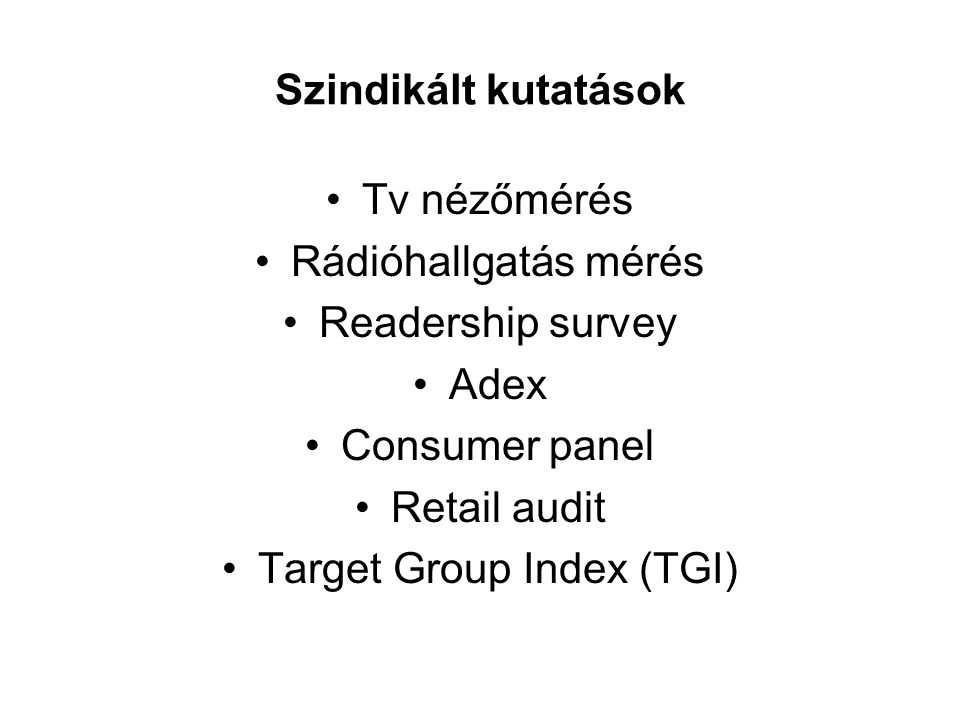 Target Group Index (TGI)