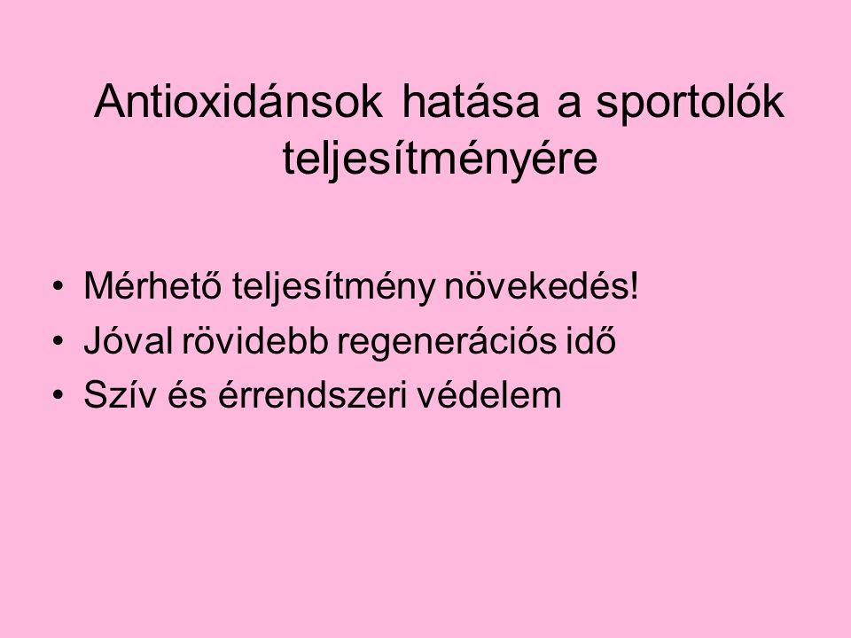 Antioxidánsok hatása a sportolók teljesítményére