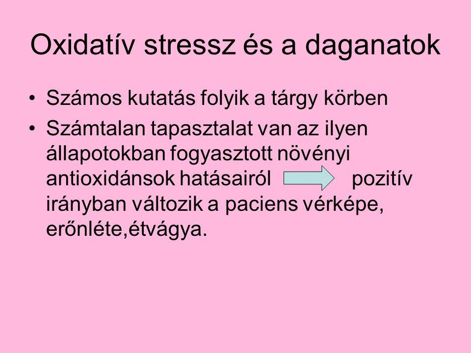 Oxidatív stressz és a daganatok