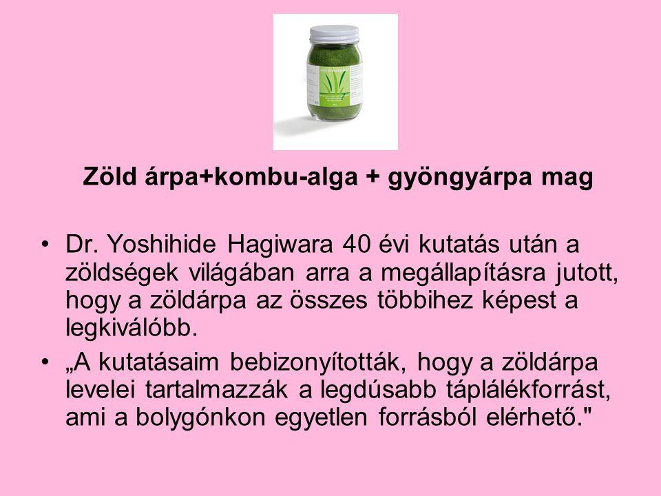 Zöld árpa+kombu-alga + gyöngyárpa mag