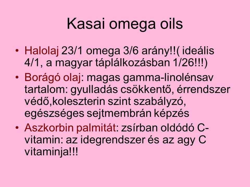 Kasai omega oils Halolaj 23/1 omega 3/6 arány!!( ideális 4/1, a magyar táplálkozásban 1/26!!!)