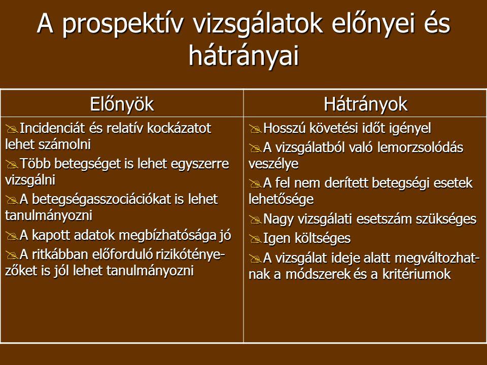 A prospektív vizsgálatok előnyei és hátrányai