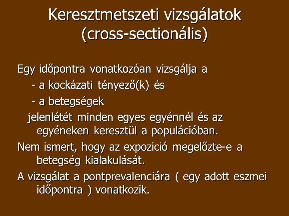 Keresztmetszeti vizsgálatok (cross-sectionális)