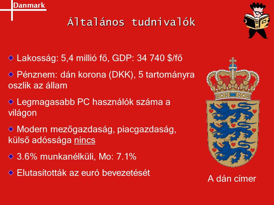 Általános tudnivalók Lakosság: 5,4 millió fő, GDP: 34 740 $/fő