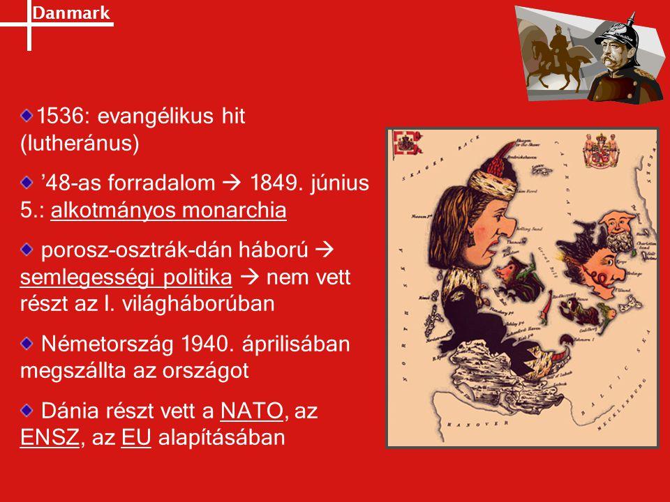 1536: evangélikus hit (lutheránus)