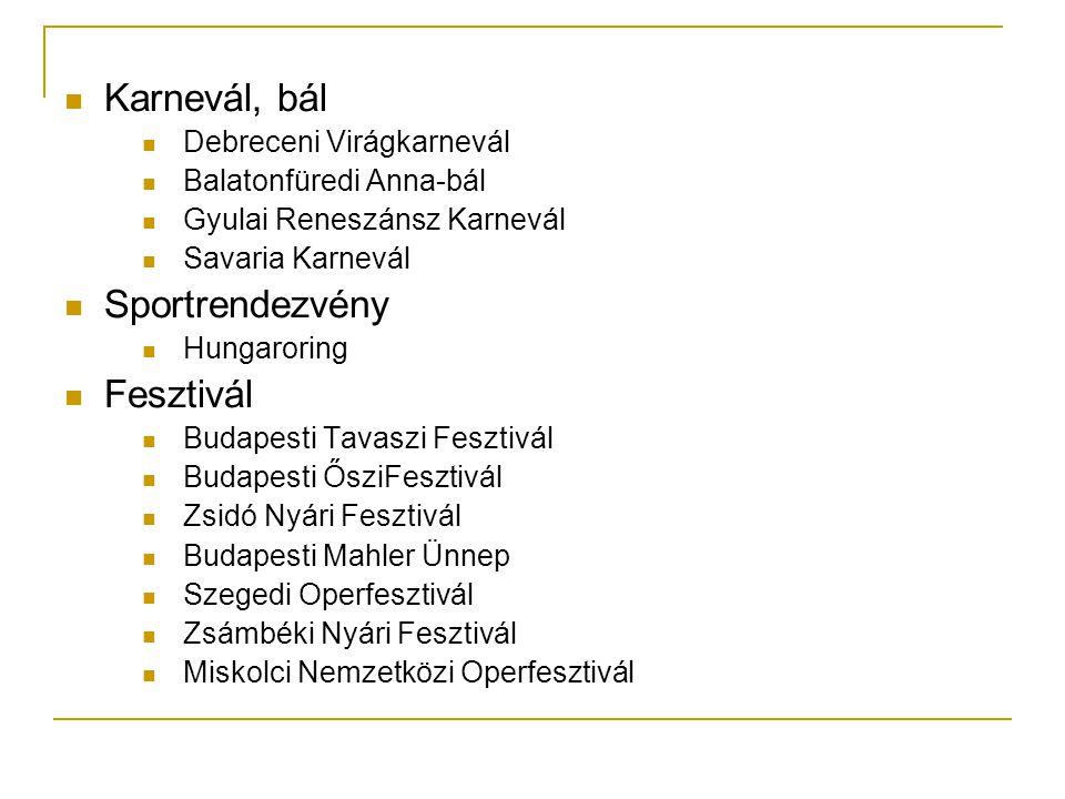 Karnevál, bál Sportrendezvény Fesztivál Debreceni Virágkarnevál