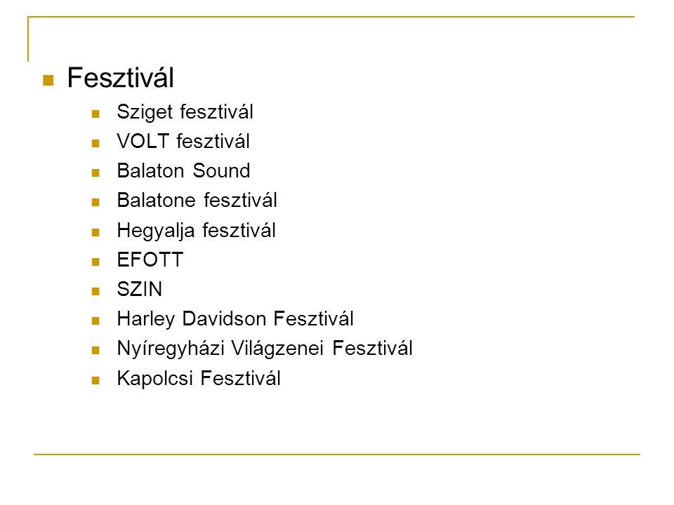 Fesztivál Sziget fesztivál VOLT fesztivál Balaton Sound