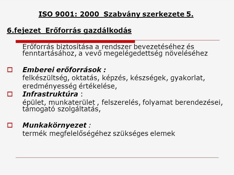 ISO 9001: 2000 Szabvány szerkezete 5.