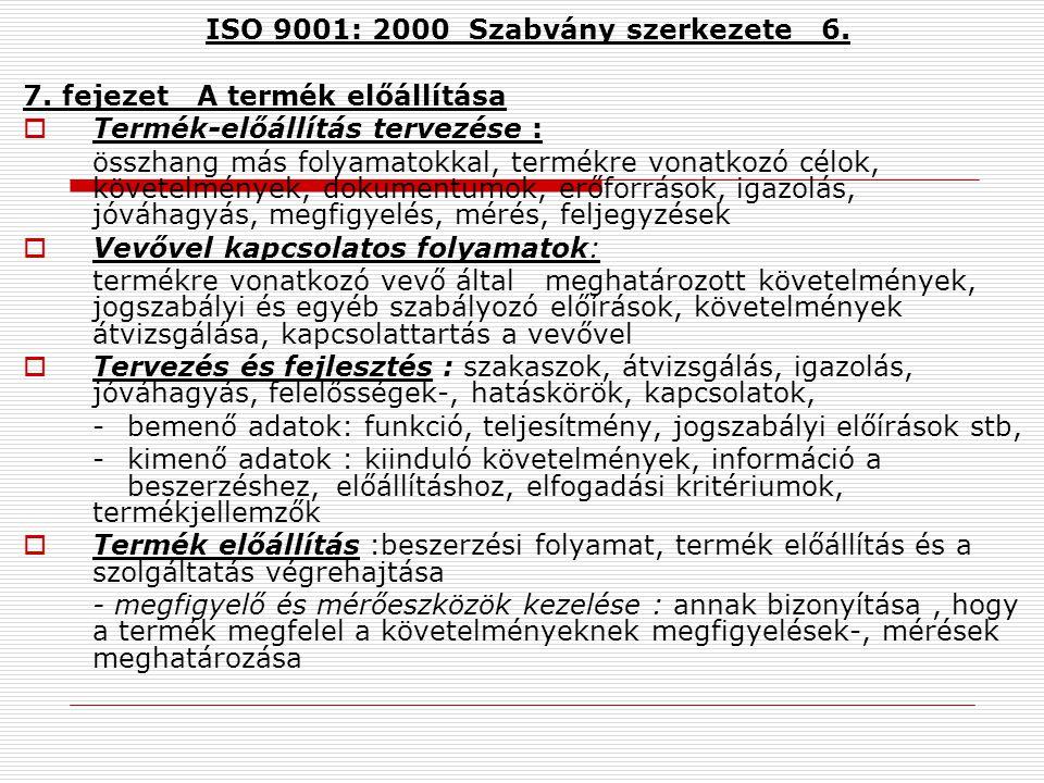 ISO 9001: 2000 Szabvány szerkezete 6.