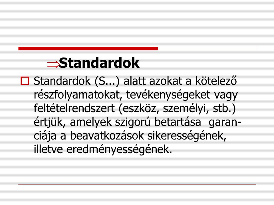 Standardok