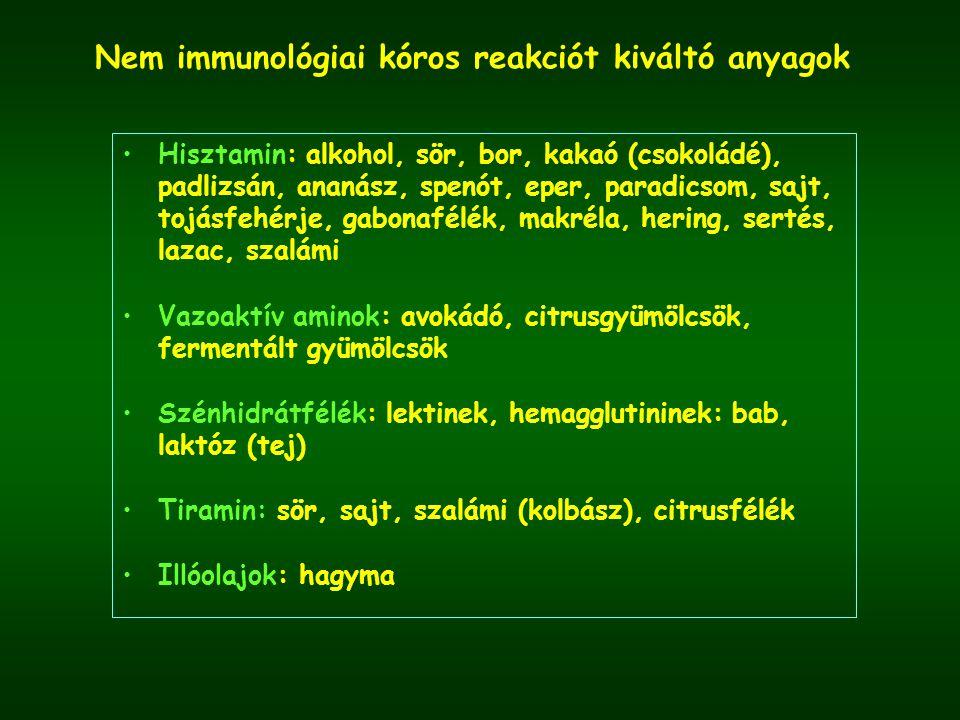 Nem immunológiai kóros reakciót kiváltó anyagok