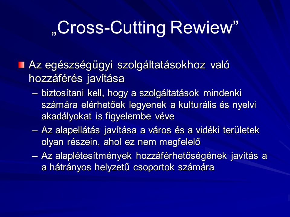 """Cross-Cutting Rewiew"