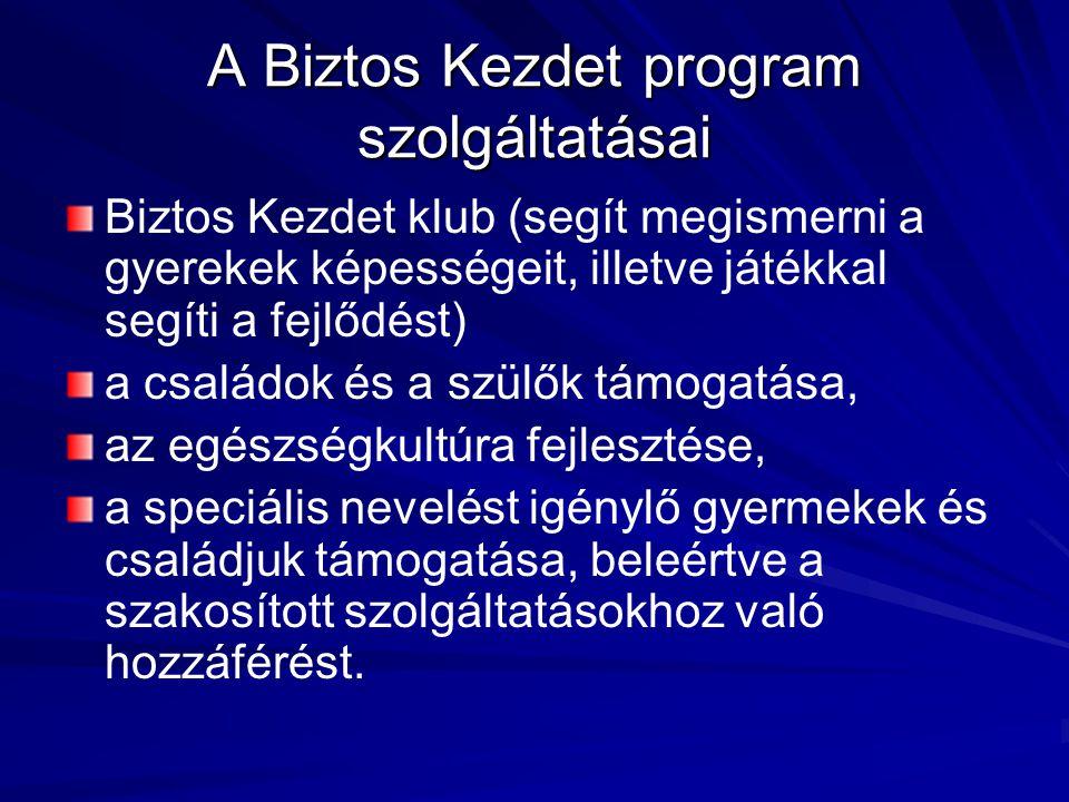 A Biztos Kezdet program szolgáltatásai