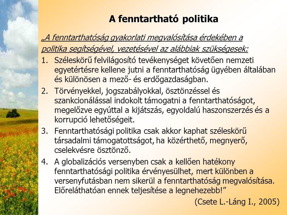 A fenntartható politika