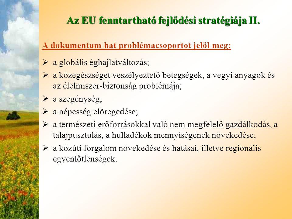 Az EU fenntartható fejlődési stratégiája II.