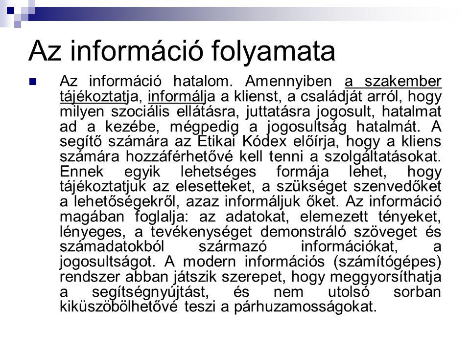 Az információ folyamata