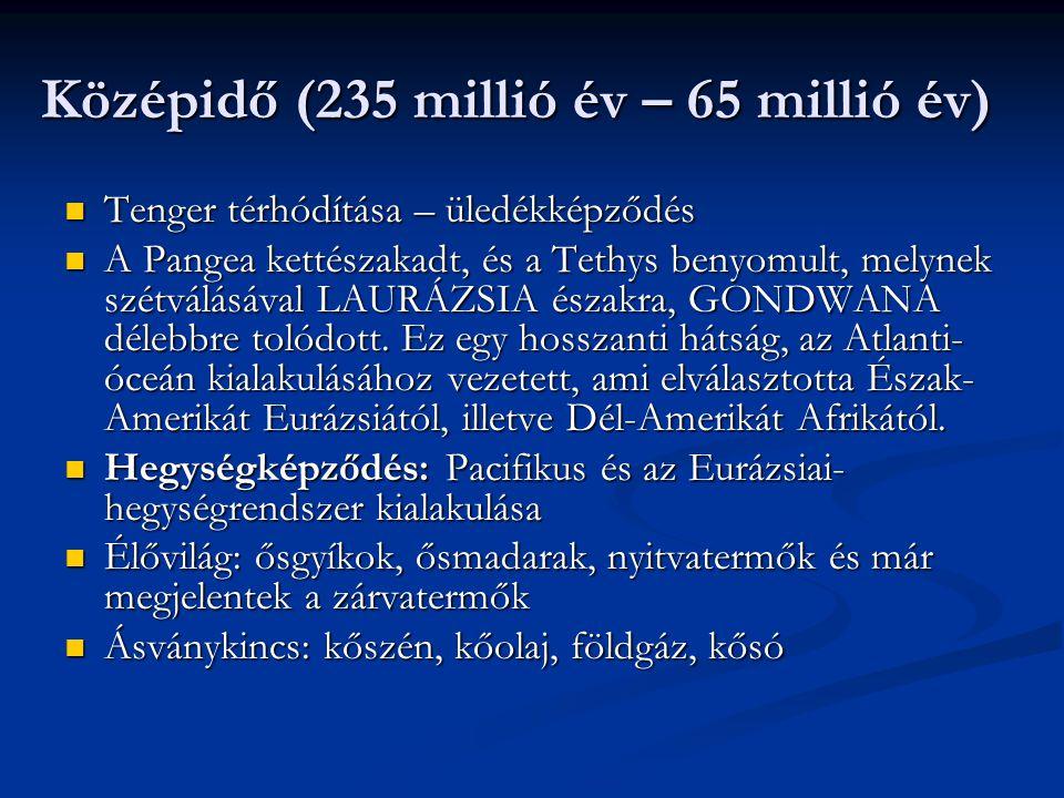 Középidő (235 millió év – 65 millió év)