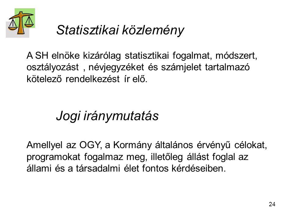 Statisztikai közlemény