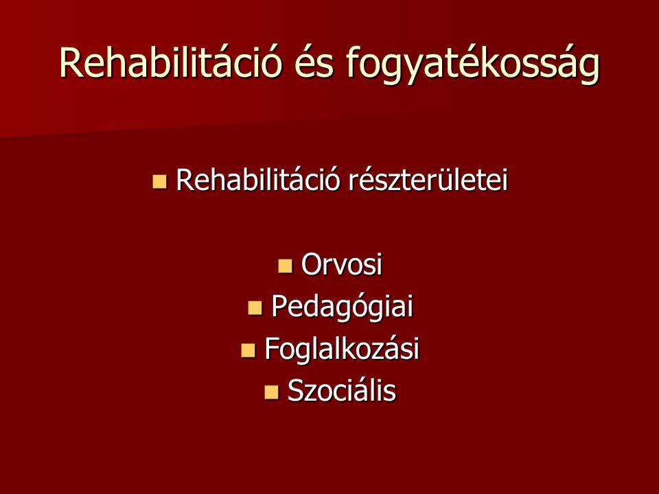 Rehabilitáció és fogyatékosság