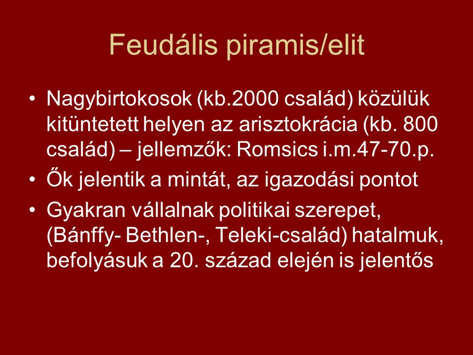 Feudális piramis/elit